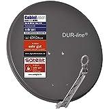DUR-line Select 75/80cm Anthrazit Satelliten-Schüssel - 3 x Test + Sehr gut +...