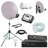 Digital Camping SAT Anlage 40 cm Spiegel+ HD RECEIVER + Digitaler SAT Finder + HD...