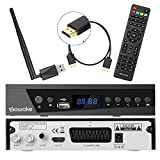 Digital Satelliten Receiver, SAWAKE SAT-Receiver mit WiFi Adapter/ Fernsteuerung/...