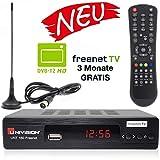 Univision UNT160 digitaler DVB-T2 Receiver mit Antenne inkl. 3 Monate Freenet TV...