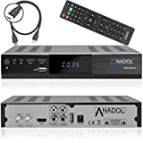 Anadol HD 222 Plus HD HDTV digitaler Satelliten-Receiver (HDTV, DVB-S2, HDMI, 2X USB...