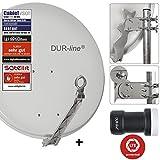 DUR-line 1 Teilnehmer Set - Qualitäts-Alu-Satelliten-Komplettanlage - Select 75/80cm...