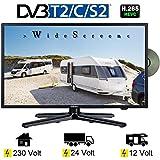 Gelhard GTV-2282 LED 22 Zoll Wide Screen TV DVD DVB/S/S2/T2/C 230/12 Volt 24 Volt...