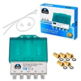 DiseqC Schalter Switch 4/1 mit Wetterschutzgehäuse HB-DIGITAL 4x SAT LNB 1 x...