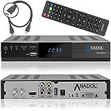 Anadol HD 222 Plus HD HDTV digitaler Satelliten-Receiver (HDTV, DVB-S2, HDMI, 2X USB...