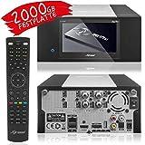 XTREND ET 8500 HD Sat-Receiver mit Aufnahmefunktion und Festplatte 2000GB HDD PVR -...