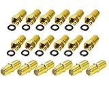 Smartsat 6x Verbinder 12x F-Stecker Set 7,2mm vergoldet mit Gummidichtung für...