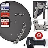 DUR-line 8 Teilnehmer Set - Qualitäts-Alu-Satelliten-Komplettanlage - Select 75/80cm...