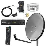 Digital Sat Anlage 60 cm Spiegel inkl. ARLI AH2 HD Receiver + Single LNB + 10m Koax...
