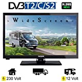 Telefunken L24H274K4 LED Fernseher TV 24 Zoll 61 cm, WideScreen Bilschirm, DVB-C...