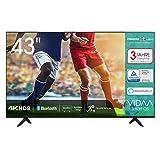 Hisense 43AE7000F 108cm (43 Zoll) Fernseher (4K Ultra HD, HDR, Triple Tuner...
