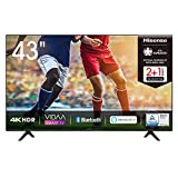 Hisense 43AE7000F 108cm (43 Zoll) Fernseher (4K Ultra HD, HDR, Triple Tuner DVB-C/ S/...