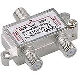 SAT & BK-Verteiler - 2-Fach Splitter - voll geschirmt - Unicable & HD tauglich...