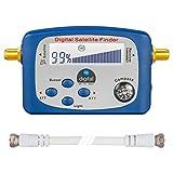 HB-DIGITAL SATFINDER mit LCD Anzeige Kompass und Ton + F-Verbindugskabel + Deutsche...