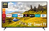Telefunken XU58K521 58 Zoll Fernseher (Smart TV inkl. Prime Video/Netflix/YouTube, 4K...