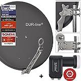 DUR-line 2 Teilnehmer Set - Qualitäts-Alu-Satelliten-Komplettanlage - Select...