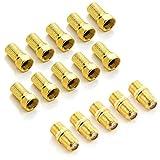 deleyCON F-Stecker Set mit 5X Verbinder & 10x F-Stecker 7mm Gummidichtung Breite...