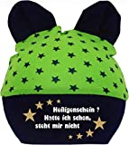 KLEINER FRATZ Baby Ohren Mütze Sternchen (Farbe Lime-Navy) (Gr. 1 (0-74)...