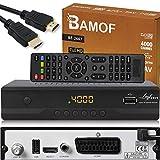 Bamof BE-2607 Digital Satelliten Sat Receiver - ( HDTV , DVB-S/S2 , HDMI , SCART , 2X...