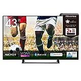 Hisense 43AE7200F 108 cm (43 Zoll) Fernseher (4K Ultra HD, HDR, Triple Tuner DVB-C/...