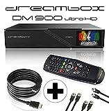 Dreambox DM900 UHD 4K E2 Linux Receiver mit 2X DVB-S2X/1x DVB-C/T2 Triple Tuner...