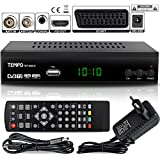 hd-line Tempo 4000 A DVBT2 Receiver Full HD 1080P 4K für TV ( HEVC/H.265 HDMI SCART,...