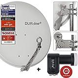 DUR-line 4 Teilnehmer Set - Qualitäts-Alu-Satelliten-Komplettanlage - Select...