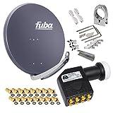 FUBA 85cm für 8 Teilnehmer (Direktanschluss) Digital SAT Anlage DAA850A + Octo LNB...